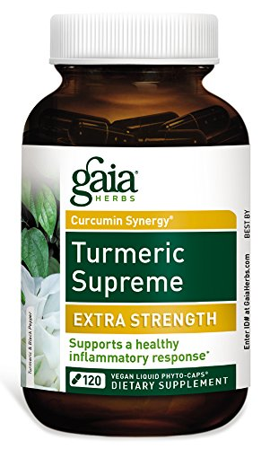 Gaia Herbs Turmeric Supreme Extra Strength, Vegan Liquid Capsules, 120 Count - Turmeric Curcumin Supplement with Black Pepper, Daily Joint Support & Healthy Inflammatory Response