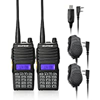 Baofeng 2PCS UV-5X Mate Handheld Two-way radio VHF136-174MHz UHF400-520MHz Dual Display Standby Transceiver Walkie Talkie with 2xMic+Tokmate Programming Cable