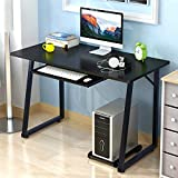 "Soges Computer Desk 47"" PC Desk Office Desk with Pullout Keyboard Tray Workstation for Home Office Use Writing Table, Black TZ-BCA"