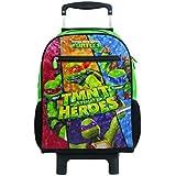 Mala Escolar G com Rodinhas As Tartarugas Ninja, 11223, DMW Bags