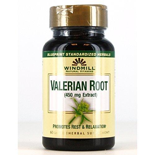 Windmill Valerian Root 450 mg 60 Capsules - 1