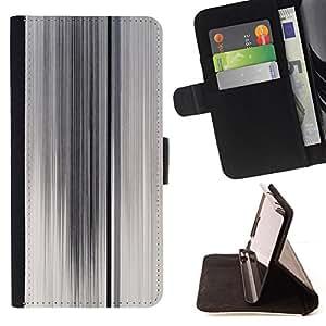 WHITE FOGGY GLASS BLACK LINES ABSTRACT CLEAN/ Personalizada del estilo del dise???¡Ào de la PU Caso de encargo del cuero del tir????n del soporte d - Cao - For Samsung Galaxy S5 Mini, SM-G800