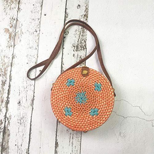 Eeayyygch Bolso de ratán vietnamita Solo Flor de Sol Oval Oblicuo Bolso de Playa Bolso Forrado con Hebilla de Arco (Color : -, tamaño : -): Amazon.es: Hogar