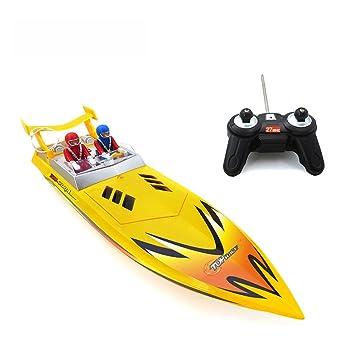 LYXF HQ5011 RC Barco 15 Km/H De Alta Velocidad Eléctrico Ship Speedboat Teledirigido para Niños Juguetes De Regalo,Yellow: Amazon.es: Deportes y aire libre