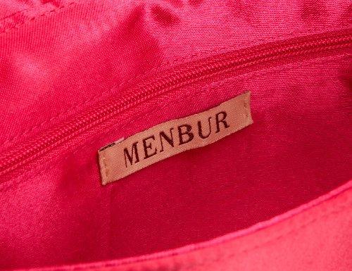 MENBUR Iro 83105 - Cartera de mano de satén para mujer Rosa (Pink (Fucsia 33))