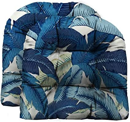 RSH D cor Indoor Outdoor 2 pk Wicker Patio Chair Seat Cushion Pillow Water Resistant Pad Made