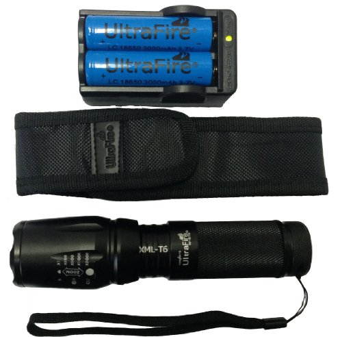 Ultrafire Zoomable Flashlight rechargable batteries