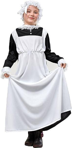 Niños Fancy vestido de fiesta semana día de niña pobre Victorian Maid DISFRAZ DE CARÁCTER UK