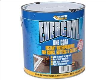 Everbuild EVC02BL Evercryl One Coat 2.5Kg - Black EVBEVC02BL