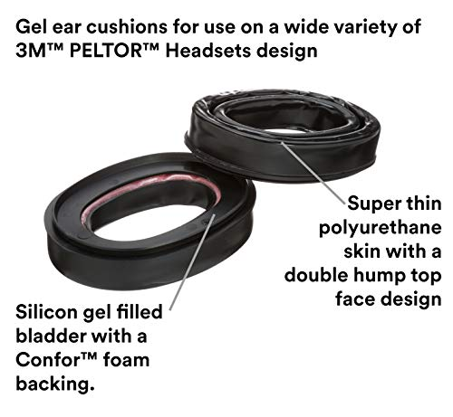 3M Personal Protective Equipment PELTOR Camelback Gel Sealing Rings HY80, Comfort Replacement Earmuff Cushions, Black by 3M Personal Protective Equipment (Image #1)