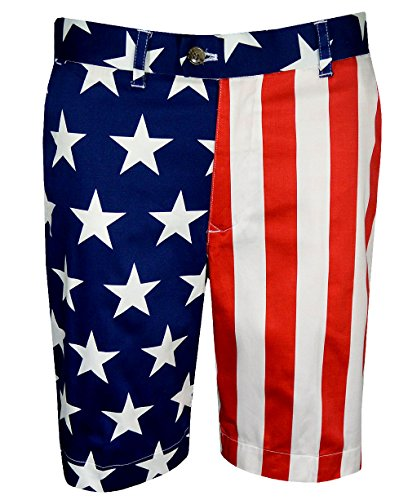 Loudmouth Golf Mens Stars & Stripes Shorts
