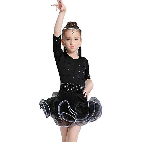 YZLL Vestido De Baile Latino para NiñOs Tutu Traje De Baile ...