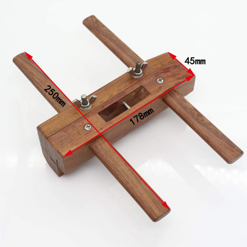 F Fityle Rosewood Y Acero De Alta Velocidad Ranura Del Plano De La Mano Ranurado Plano De Madera Carpinter/ía