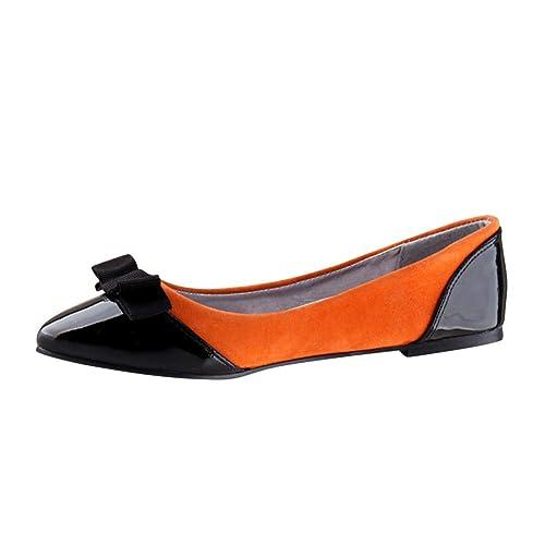 Daytwork Zapatos Mujer Bailarinas Sandalias - Mocasines Mujer Ballet Zapatos Planos Sandalias Barco Vestido Color Arco Fiesta Zapatos Casuales: Amazon.es: ...