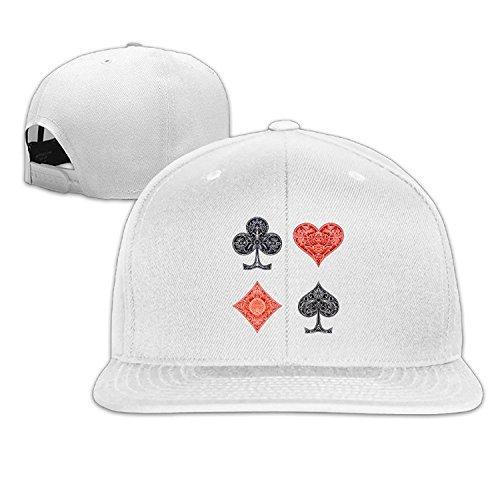 Custom Unisex Poker Card Flat Bill Baseball Cap Hats - Aguilera Sunglasses Christina