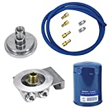 Small Block Fits Chevy Remote Oil Filter Relocation Kit, Horizontal