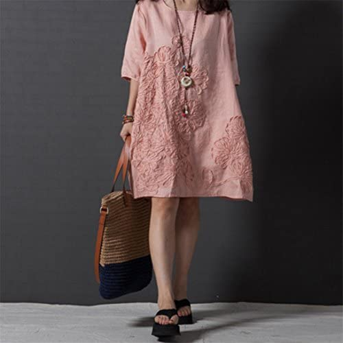 elistelle Top 1/2 Brazo largo Camiseta Oversize playa Blusa Camisa túnica parte superior Wei?, rosa, pequeño: Amazon.es: Hogar