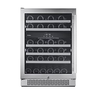 Avallon AWC241DZLH 24 Inch Wide 46 Bottle Capacity Dual Zone Wine Cooler with Le