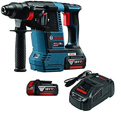 "Bosch GBH18V-26K 18 Lithium-Ion Brushless 1"" SDS-plus Bulldog Rotary Hammer Kit"