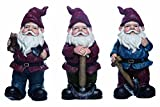 Transpac Imports, Inc. Old Fashioned Garden Hand Tool Gnome 10 x 5 Resin Figurine Set of 3