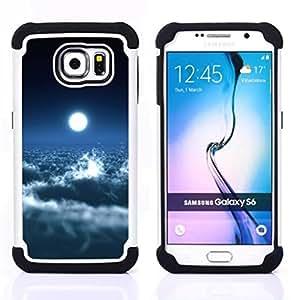 For Samsung Galaxy S6 G9200 - Space Planet Galaxy Stars 39 H????brido Protecci????n completa dual de alto impacto Capa Funda - God Garden -