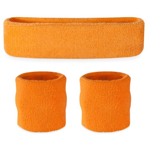Suddora-Sweatband-Set-1-Headband-and-2-Wristbands-Cotton-for-Sports-More
