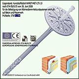 200 D/ämmstoffhalter 10 x 160mm D/ämmstoffd/übel EPS D/ämmplattend/übel Tellerd/übel