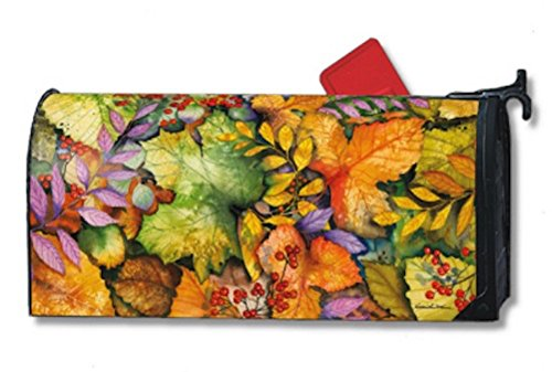 Colors of Autumn Magnetic Mailbox Cover Fall Leaves Mailwraps Standard by MagnetWorks