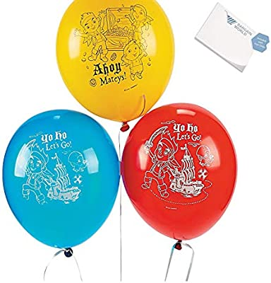 Jake & The Never Land Pirates Latex Balloons (With Sticky Notes)