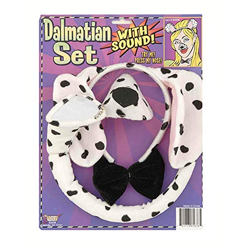 Forum Novelties Animal Costume Set Dalmatian Dog Ears Nose Tail with Sound -