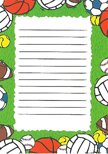 Boys Ball Sports Kids Stationery, 10 Pack w/Stickers & Pen