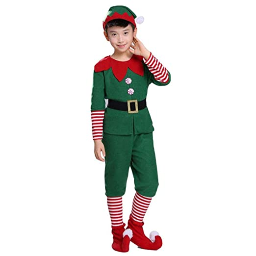 YHNUJMIK Disfraces De Navidad Cosplay Elf Grinch Dress Año Nuevo ...