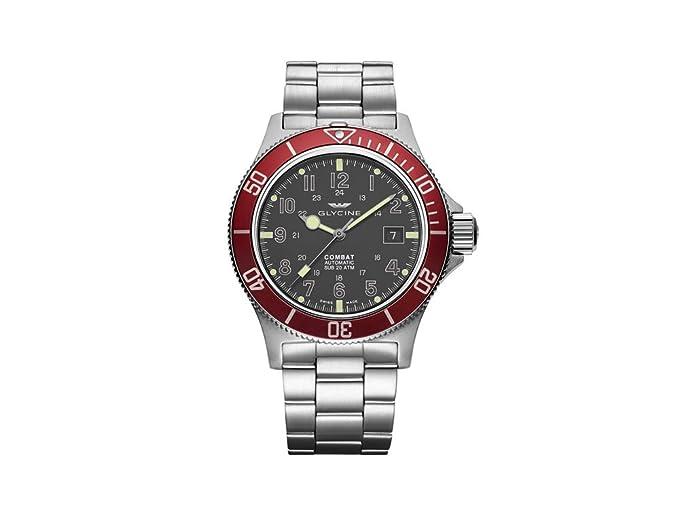 Reloj Automático Glycine Combat Sub, GL 224, Gris, 42mm, GL0078: Amazon.es: Relojes