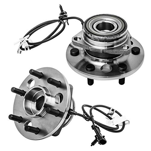 - Front Wheel Hub and Bearing Assembly Left or Right Compatible Cadillac Escalade Chevrolet K1500 K2500 Tahoe Suburban GMC Yukon Base AUQDD 515024 x2 (Pair) [ 6 Lug W/ABS 4WD 4x4 ]