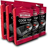 Weiman Cook Top Scrubbing Pads, 18 Count, 6 Pack Cuts Through the Toughest Stains - Scrubbing Pads Carefully Wipe Away Residue