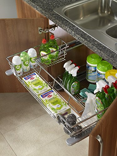 Blum Soft Close Under Sink Basket To Suit 900mm Wide Base Cabinet