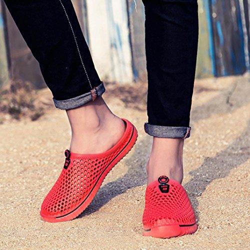 Paio Donna da Spiaggia Massaggio Sandalo Scarpe Scarpe Infradito Casual Donne Sandali Unisex da Uomo Uomini Pantofole Rosso da Traspirante Morbido SOMESUN Classico Leggero q4aOtwHx4