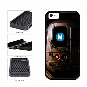 Personalized NYC Train Custom Letter M 2-Piece Dual Layer Phone Case Back Cover Apple iPhone 5 5s
