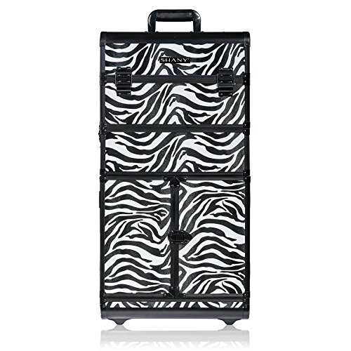 SHANY REBEL Series Pro Makeup Artists Rolling Train Case - T