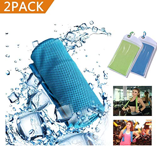 GEJULIC Cooling Towel More Effective Instant Cooling Chilly Cool Ice WetT owel for Sports, Workout, Fitness, Gym, Yoga, Pilates, Travel, Camping & More 2018 Updated Ice Wet -