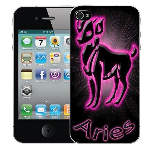 Mobile Case Mate iPhone 5s clip on Dur Coque couverture case cover Pare-chocs - Rose aries Motif avec Stylet