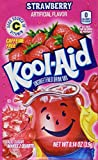 Kool-Aid Strawberry Unsweetened Soft Drink Mix, 0.14-Ounce Envelopes (Pack of 48)