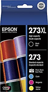 Epson 273XL/273 High Yield Black and Standard Photo Black and Color C/M/Y Ink Cartridges from Epson Consumables
