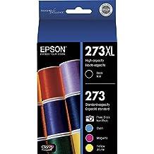 Epson T273XL-BCS Claria Cartridge Ink, 5 Pack