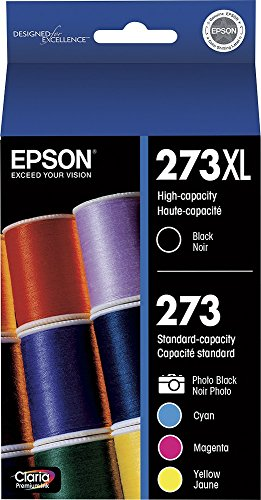 Epson T273XL-BCS Claria Cartridge Ink, 5 Pack