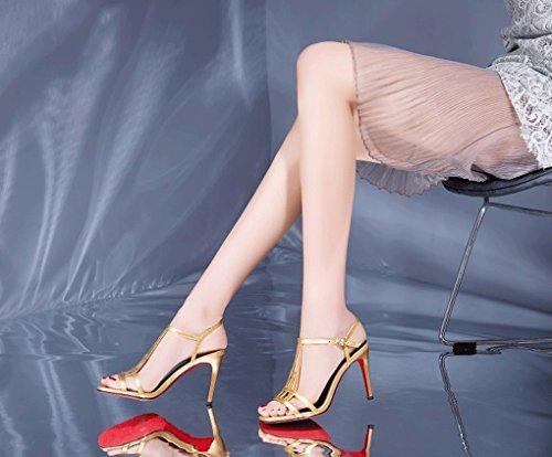 tacco Jazs® Sandali e Pure Nuovo alto Moda Color Moda Comodi Dolce tacchi con Sexy Elegante stile confortevoli alti oro 0rxI0EwdqW
