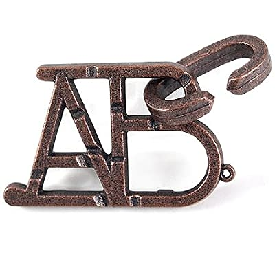 ABC Hanayama Cast Metal Brain Teaser Puzzle (Level 1)
