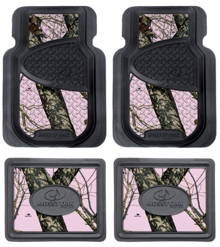 mossy oak infinity pink camo print car truck suv front rear seat heavy duty trim to fit rubber. Black Bedroom Furniture Sets. Home Design Ideas