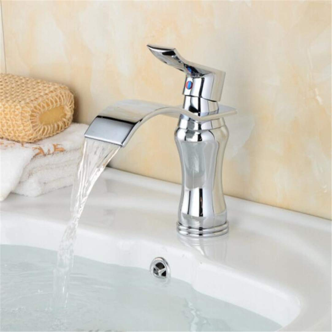 Faucet Washbasin Mixer golden Nickel Finished Bathroom Basin Hot and Cold Water Mixer Faucet Deck Mounted Taps