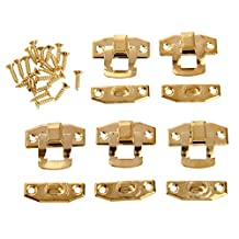 """5Pc 0.91""""x0.79"""" Wood Box Toggle Catch Lock with Screws for Suitcase Chest Trunk Latch Clasp"""